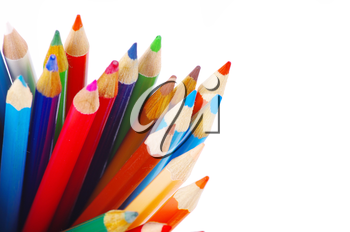 Royalty Free Photo of a Stack of Coloured Pencils