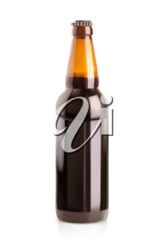 Beer in a bottle, vector object