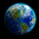 Royalty Free Clipart Image of the Earth From Space Showing North and South America