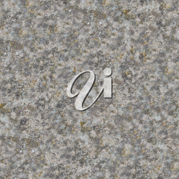 Seamless Texture of Weathered Old Concrete Surface is Covered with Moss and Dirt Stains.