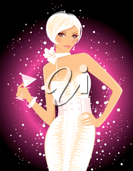 Vector illustration of Sexy girl