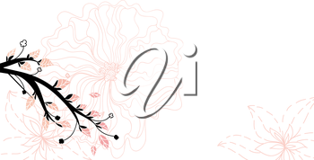 Royalty Free Clipart Image of a Floral Spring Background