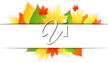 Vector illustration of Autumn background with leafs