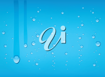 Vector illustration (eps 10) of Water drop background