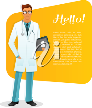Vector illustration of Doctor character man image