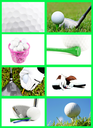 Royalty Free Photo of a Golf Collage
