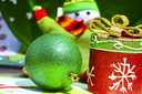 Royalty Free Photo of a Holiday Ornaments