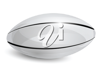 rugby ball. white ball on a white background