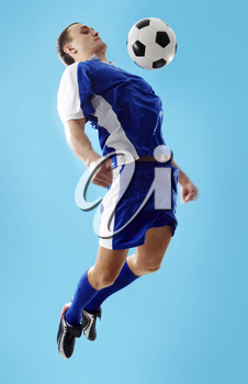 Image of professional sportsman playing in football