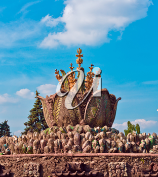 Decorative fountain in VVC, Moscow, Russia, East Europe