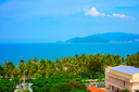 Tropical landscape with sea bay and islands, Nha Trang, Vietnam
