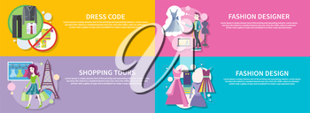 Dress code for the celebrations. Beautiful woman with a lot of shopping bags. Lifestyle shopping tours. Fashion designer working on his design. Modern and elegant dresses for fashion design on banners