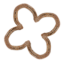 Horseshoes forming a clover leaf as a symbol for good luck