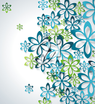 Spring or Summer design with a textured abstract floral abackground, vector illustration.