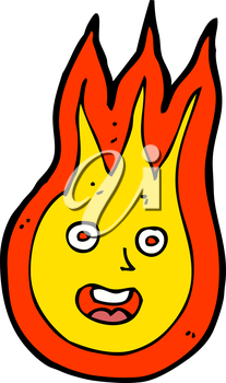 Royalty Free Clipart Image of a Flame