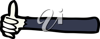 Royalty Free Clipart Image of a Left Arm