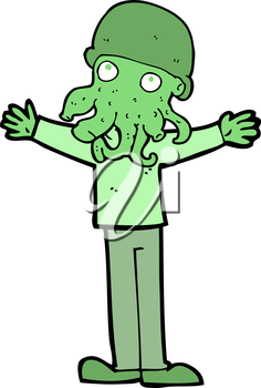 Royalty Free Clipart Image of an Alien Man
