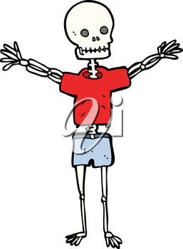Royalty Free Clipart Image of a Skeleton