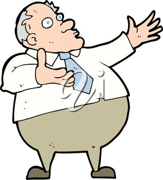 Royalty Free Clipart Image of an Large Old Man