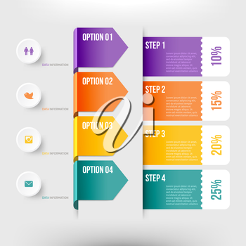 Modern infographics element number template. Vector illustration. can be used for workflow layout, diagram, business step options, banner, web design