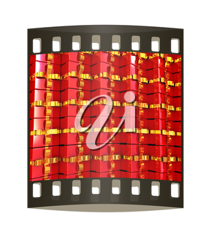 Holiday gifts background. The film strip