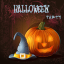 Royalty Free Clipart Image of a Halloween Party Background