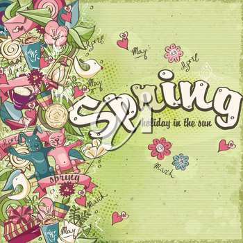 Postcard dedicated to spring and spring mood