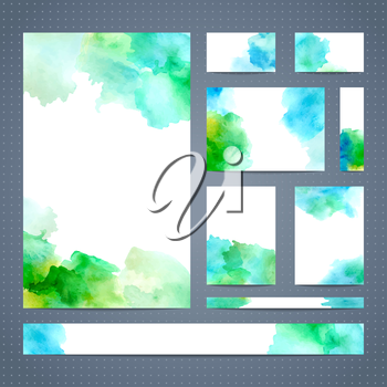 Abstract watercolour design. Vector illustration. There is blank place for your text.