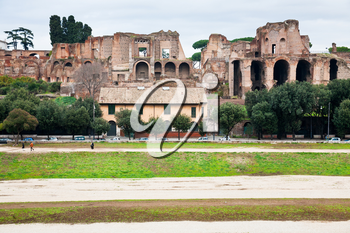 ancient Palatine and ground of Circus Maximus on Palatine Hill in Rome, Italy