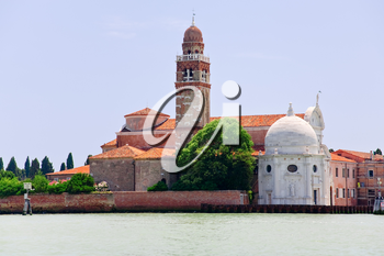cemetery on San Michele island in Venice, Italy