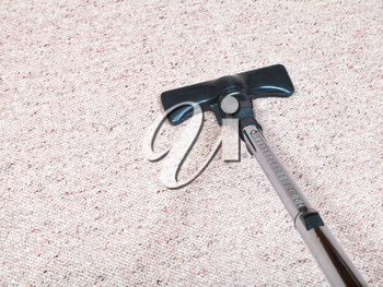 carpeting vacuuming with vacuum cleaner at home