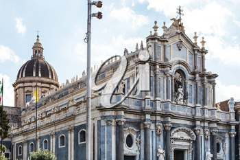 Saint Agatha Cathedral in Catania city, Sicily, Italy