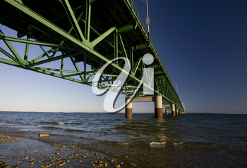 Mackinaw City Bridge Michigan Autumn Fall St Ignace