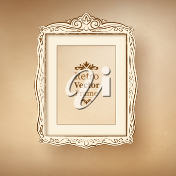Vintage baroque frame. Vector illustration.