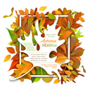 Vector backdrop. Fall template. There is place for your text on white area.