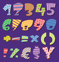 Colorful patterns comic numbers
