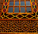 blur in iran shiraz the old persian   architecture window and glass in background