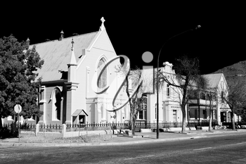 blur  in south africa old  church  in city center of reinet graaf and religion building