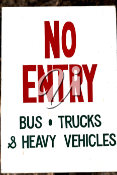in  philippines old dirty label of no entry    signal concept