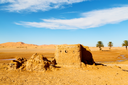 sahara africa in morocco the old   contruction and  historical village