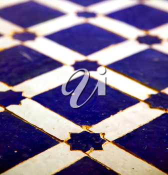 abstract morocco in africa  tile the colorated pavement   background texture