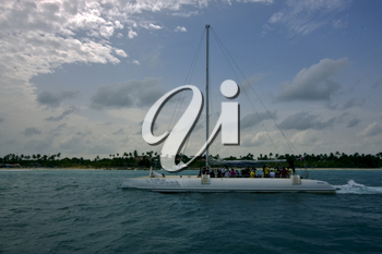 sailing water boat yacht and summer in   republica dominicana