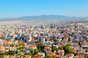 in the old europe greece and congestion of  houses new architecture