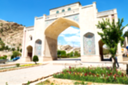 blur in iran shiraz the old gate arch historic entrance for the old city and nature flower