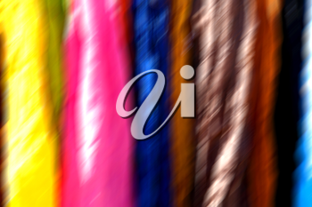 blur in iran scarf in a market texture abstract of colors and bazaar accessory