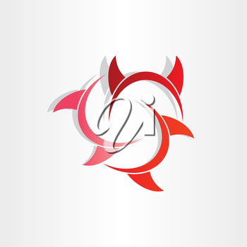 devil horns abstract symbol icon design element