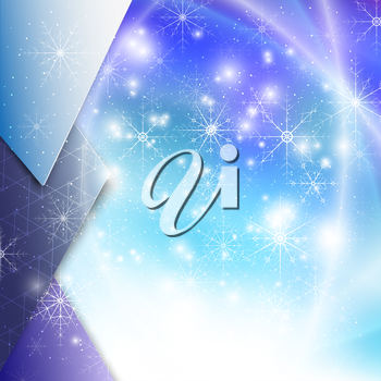 Winter background with snowflakes. Abstract winter design and website template, abstract pattern vector.
