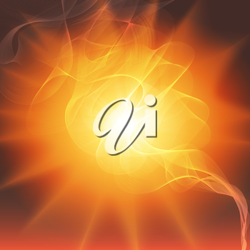 smoke against the flash of light background vector.