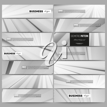 Set of modern vector banners. Abstract lines background, simple abstract monochrome texture.