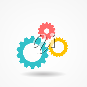 Gear Icon. Isolated on White. Vector Illustration EPS10